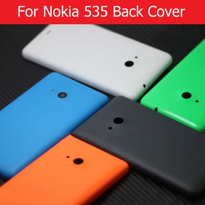 New back cover for Microsoft lumia nokia 535 rear cover for nokia 535 battery door housing Case without logo + 1pcs screen film