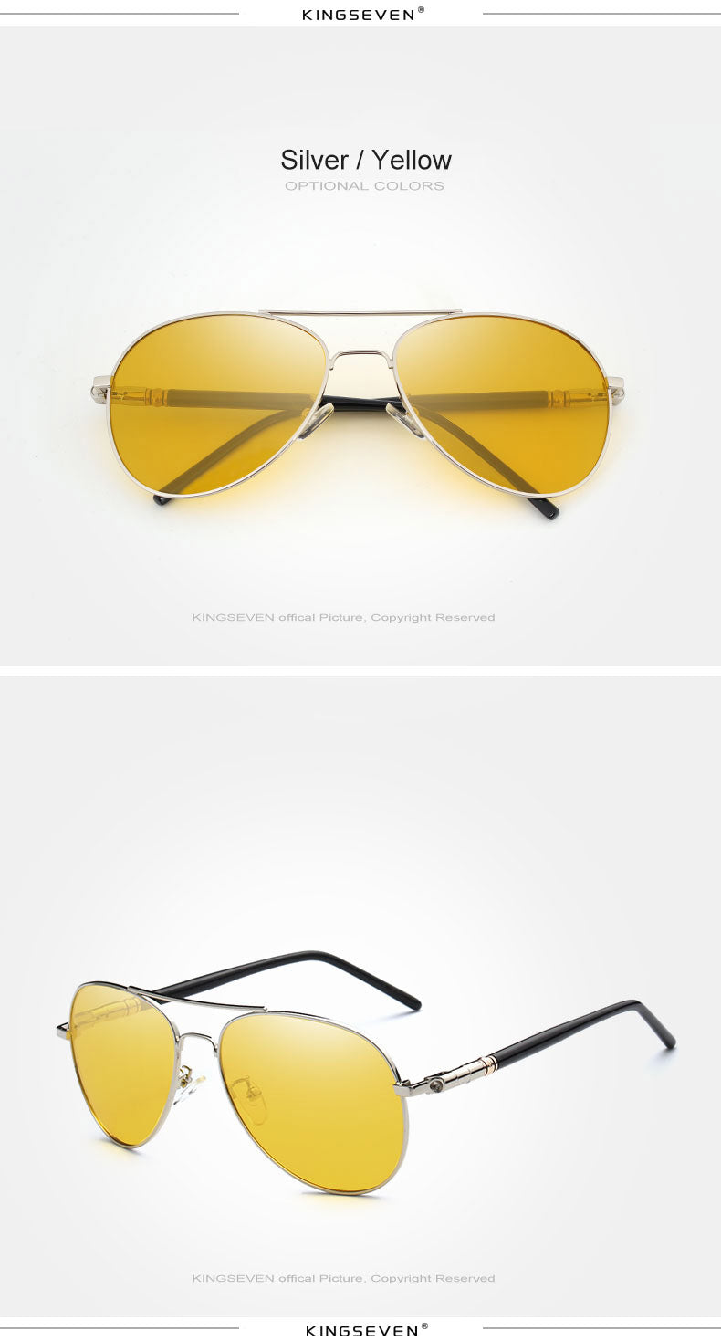 617220df9d Mens Polarized Night Driving Sunglasses Men Brand Designer Yellow Lens Night  Vision Driving Glasses Goggles Reduce