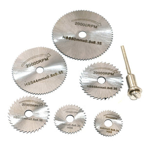 Portable Rotary Tool Circular Saw Blades Cutting Discs Mandrel For Dremel Cutoff QST7pcs