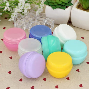 5Pcs/Lot Mini Empty Jar Pots Cosmetic Makeup Inner Lid Face Cream Lip Balm Container My Refillable