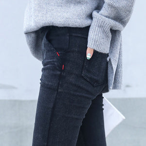 Skinny Jeans Woman New Spring Fashion Boyfriend Washed Elastic Denim Trousers Pencil Slim Capris Pants Imitation Jean Femme