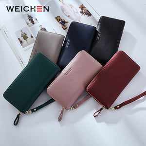 WEICHEN Wristband Women Long Clutch Wallet Large Capacity Wallets Female Purse Lady Purses Phone