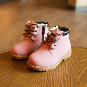 New Baby Boots Cute Pink Baby Girls Martin Boots for 1-6 Years Old Children Shoes Fashion Boots Kids