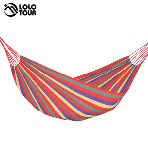 240*150cm 2 Person Hammock hamac outdoor Leisure bed hanging bed double sleeping canvas swing