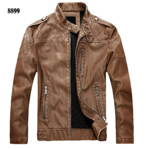 New arrive brand motorcycle leather jacket men, men's leather jacket jaqueta de couro masculina,mens