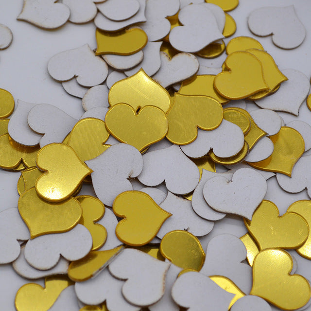 100pcs/lot 2cm 3D Diy Acrylic Mirror Wall Sticker Heart/Round Shape Stickers Decal Mosaic Mirror