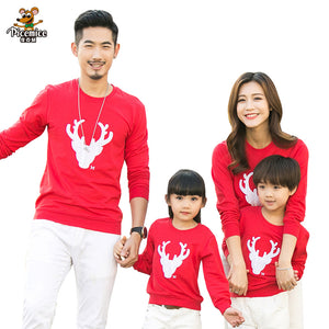 Christmas Family Look Deer Mommy and Me Clothes Matching Family Clothing Sets Mother Daughter Father