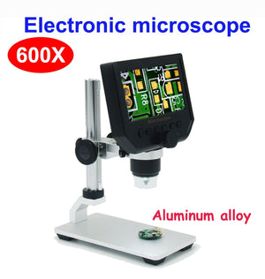 600X digital microscope electronic video microscope 4.3 inch HD LCD soldering microscope phone