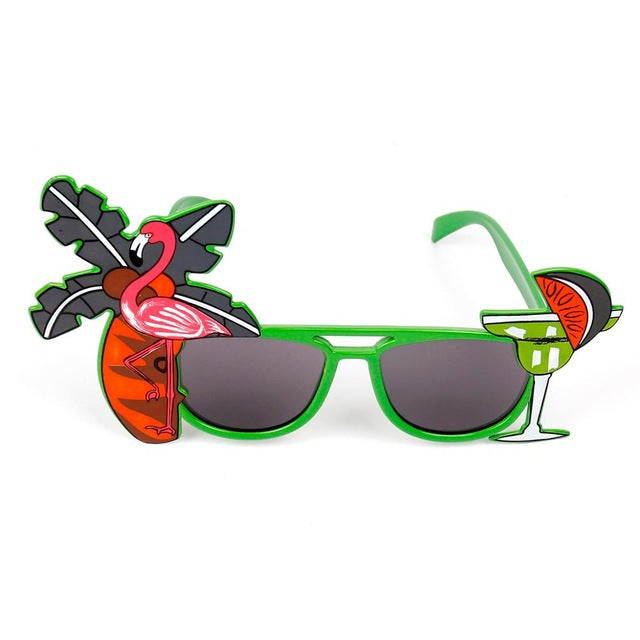 8a7907c05a FENGRISE Beach Party Novelty Flamingo Party Decorations Wedding Decor  Pineapple Sunglasses Hawaiian Funny Glasses Event Supplies