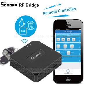 Sonoff RF Bridge WiFi 433 MHz Replacement Smart Home Automation Universal Switch Intelligent