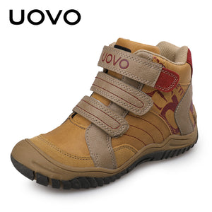 UOVO New Arrial Mid-Calf Boys Shoes Fashion Kids Sport Shoes Outdoor Children Casual Sneakers for