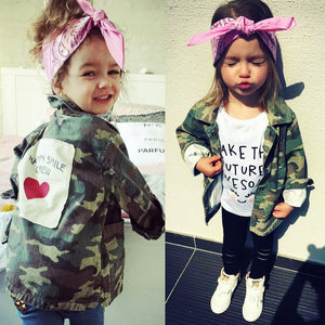 Yorkzaler Baby Girls Boys Jacket Cardigan Fashion Spring Autumn Camouflage Coats Army Children's Windbreaker Outerwear