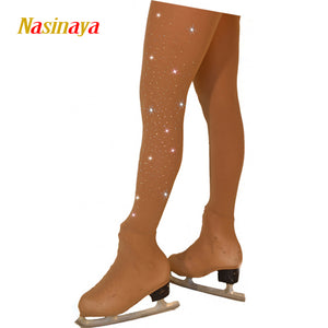 Customized Figure Skating pantyhose for Girl Women Training Competition Patinaje Ice Skating Warm
