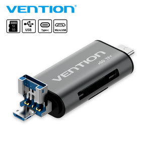Vention All In 1 Usb 3.0 2.0 Card Reader High Speed SD TF Micro SD Card Reader Type C USB C Micro