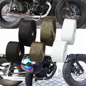 FREE SHIPPING Motorcycle Exhaust Thermal Exhaust Tape Header Heat Wrap Resistant Downpipe For Motorcycle Car Accessories spring