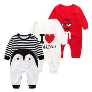baby autumn spring cotton cartoon Penguin style boy clothes newborn baby girl clothing infant