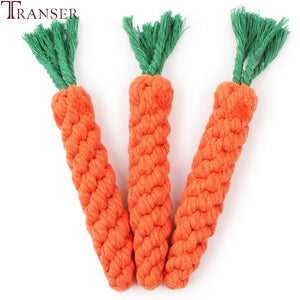 Transer Pet Supply High Quality Pet Dog Toy Carrot Shape Rope Puppy Chew Toys Teath Cleaning Outdoor