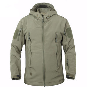 TAD Winter Shark Skin Military Windproof Tactical Softshell Jacket Men Waterproof Army soft shell