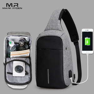 Mark Ryden New Arrival Crossbody Bags Men Anti-theft Chest Pack Summer Short Trip Messengers Bag