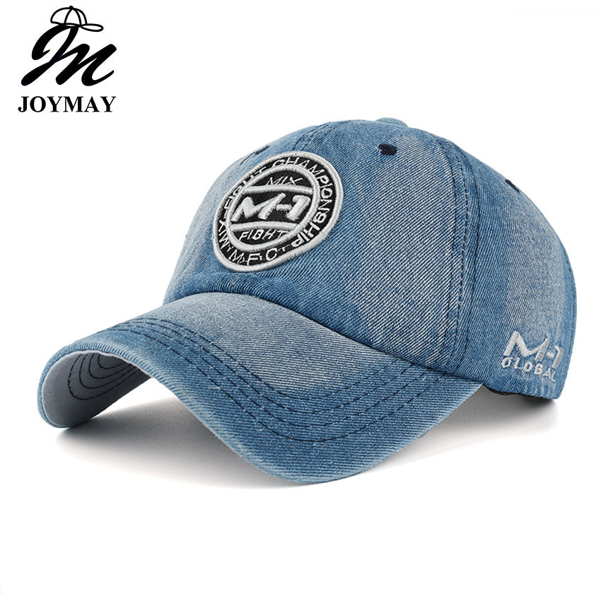 26147e2c3df6d New arrival high quality snapback cap demin baseball cap 5 color Jean badge  embroidery hat for