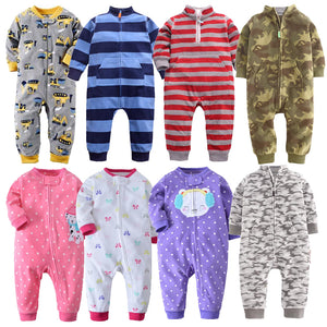 Baby clothes bebes jumpsuit collar fleece newborn pajamas infants baby boys clothes toddler boys clothes coveralls outwear