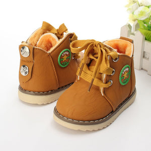 JUSTSL winter Children's hot sale casual cotton boots classic shoes non-slip kid's keep warm snow