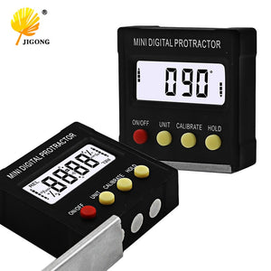 360 Degree Mini Digital Protractor Inclinometer Electronic Level Box Magnetic Base Measuring Tools