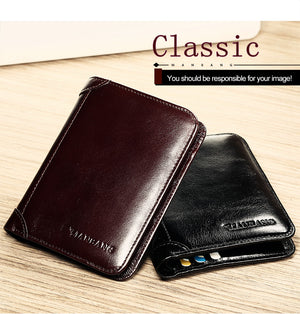 Classic Style Wallet Genuine Leather Men Wallets Short Male Purse Card Holder Wallet Men Fashion