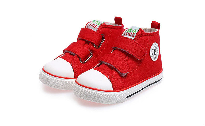 Kids shoes for girl children canvas shoes boys sneakers Spring autumn girls  shoes White High Solid eb7e60679c3b