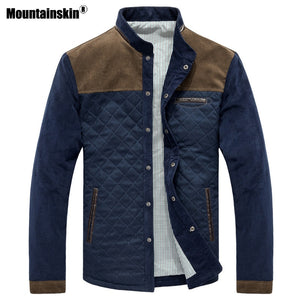 Mountainskin Spring Autumn Men's Jacket Baseball Uniform Slim Casual Coat Mens Brand Clothing