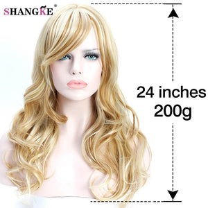 26'' Long Wavy Colored Hair Wigs Heat Resistant Synthetic Wigs For White Women Natural Female Hair