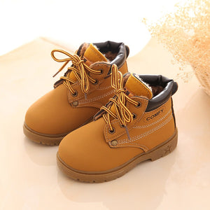 child snow boots shoes for girls boys boots fashion soft bottom baby girls boot 21-25 autumn
