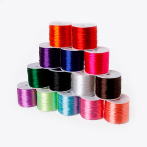 1Roll/60M 0.7mm Elastic Thread Round Crystal Line Nylon Rubber Stretchy Cord For Jewelry Making