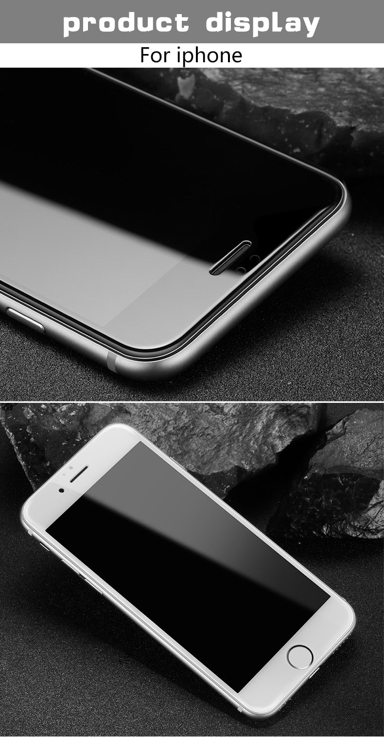 Full coverage tempered glass for iphone 7 6 6s 8 plus XS MAX glass iphone 7 8 6 X screen protector
