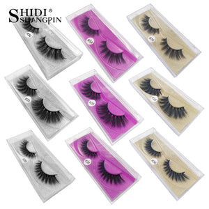 SHIDISHANGPIN 1 pair mink eyelashes natural long 3d mink lashes 1cm-1.5cm eyelashes false lashes