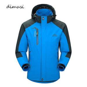 DIMUSI Casual Jacket Men's Spring Autumn Army Waterproof Windbreaker Jackets Male Breathable UV
