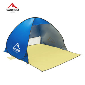 new beach tent pop up open 1-2person sunshelter quick automatic 90% UV-protective awning tent for