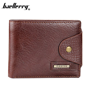 New Guaranteed Genuine Leather Brand Men Wallets Design Short Small Wallets Male Mens Purses Card