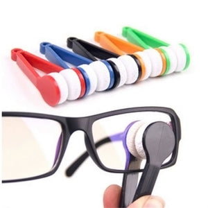 Random Glasses Eyeglass Cleaner Brush Microfiber Spectacles Cleaner Brush Cleaning Tool