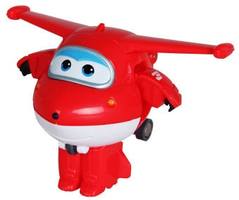 Mini Super Wings Airplane ABS Robot toys Action Figures Super Wing Transformation Jet Animation