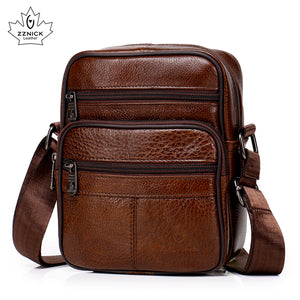 Genuine Leather Crossbody Men Messenger Bag Hot Sale Male Small Man Flap Fashion Shoulder Bags Men's Travel New Handbags ZZICK