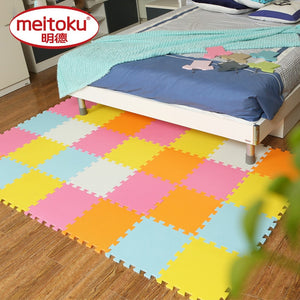 Meitoku baby EVA Foam Play Puzzle Mat/ 18 or 24/lot Interlocking Exercise Tiles Floor Carpet Rug for