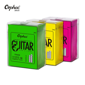 Orphee Hot Sell 1 SET ACOUSTIC Guitar String Hexagonal core+8% nickel FULL,Bronze Bright tone& Extra light Extra Light Medium
