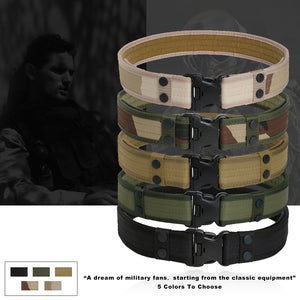 Combat 2 Inch Canvas Duty Tactical Sport Belt with Plastic Buckle Outdoor Military Army Fan