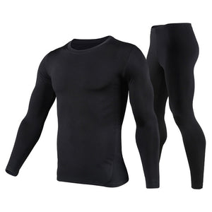 Herobiker Men's Fleece Lined Thermal Underwear Set Motorcycle Skiing Base Layer Winter Warm Long