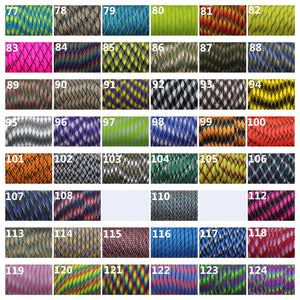 120 colors Paracord 550 Paracord Parachute Cord Lanyard Rope Mil Spec Type III 7Strand 100FT