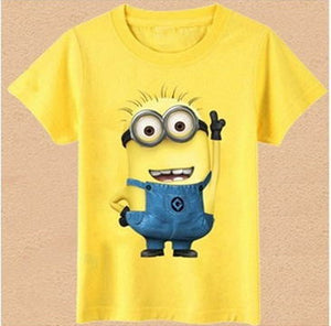 Cartoon Kids Clothes Tee T-Shirt Short Sleeve Top Casual Summer Clothing Cartoon Boy Girls Clohtes