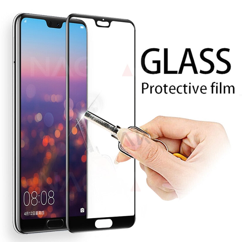 Protective Glass on the For Huawei P20 Lite P20 Pro Tempered Screen Protector 0.26mm 2.5D Edge Glass