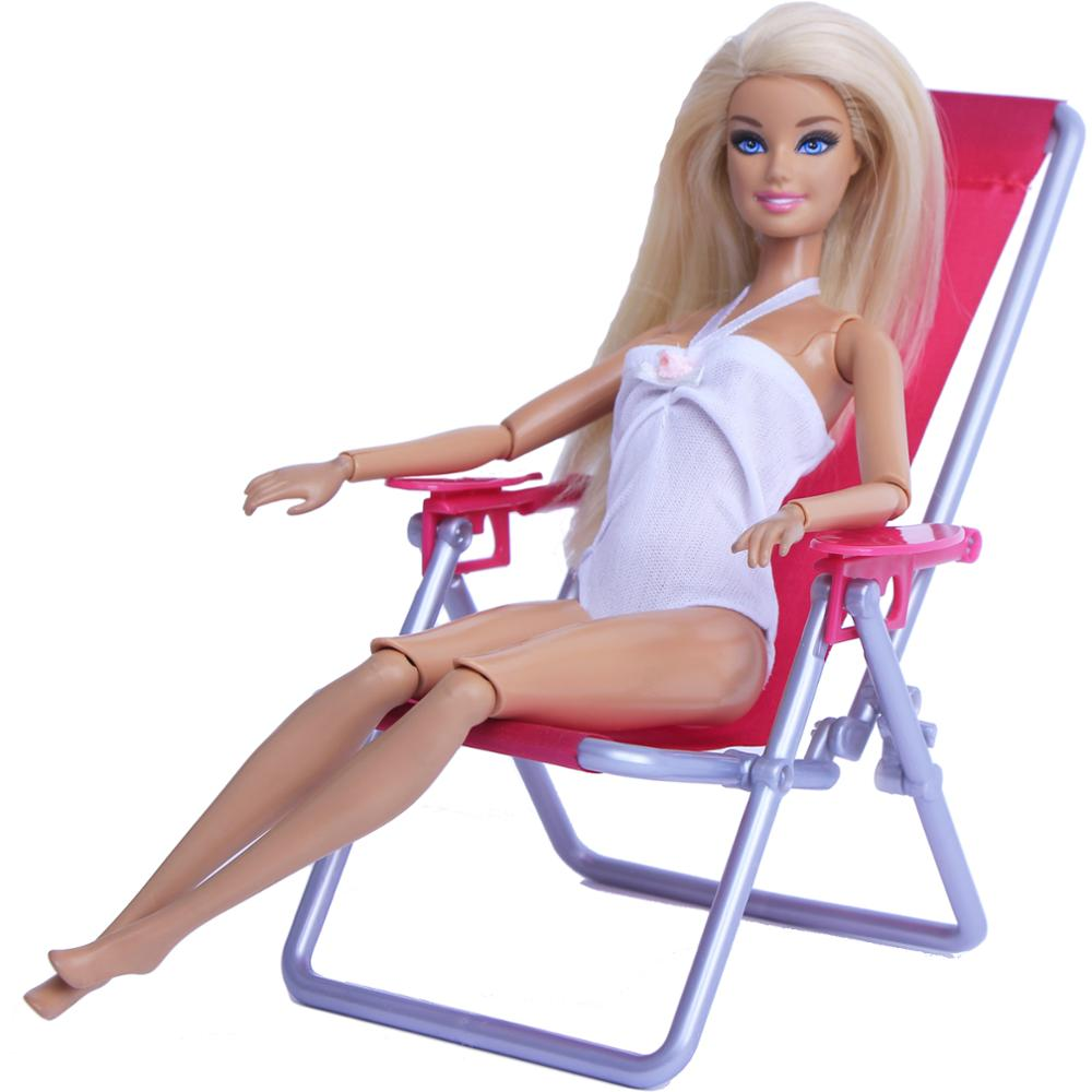 1:6 Scale Dollhouse Furniture Swim Foldable Deckchair Accessories For Barbie Doll For Blythe House