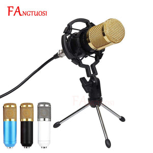 BM 800 Microphone Condenser Sound Recording Microphone With Shock Mount For Radio Braodcasting